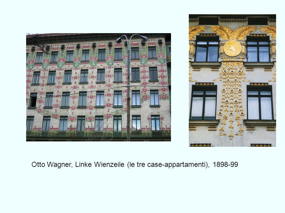 Otto Wagner, Linke Wienzeile (le tre case-appartamenti), 1898-99