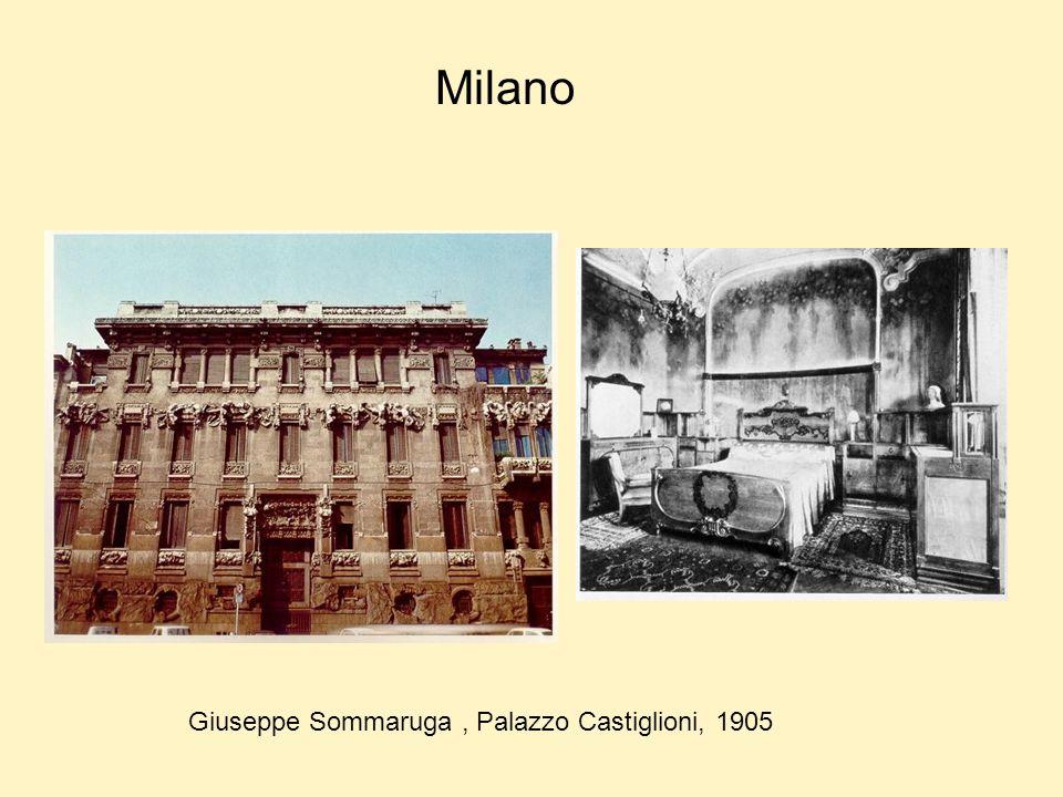 Milano Giuseppe Sommaruga, Palazzo Castiglioni, 1905