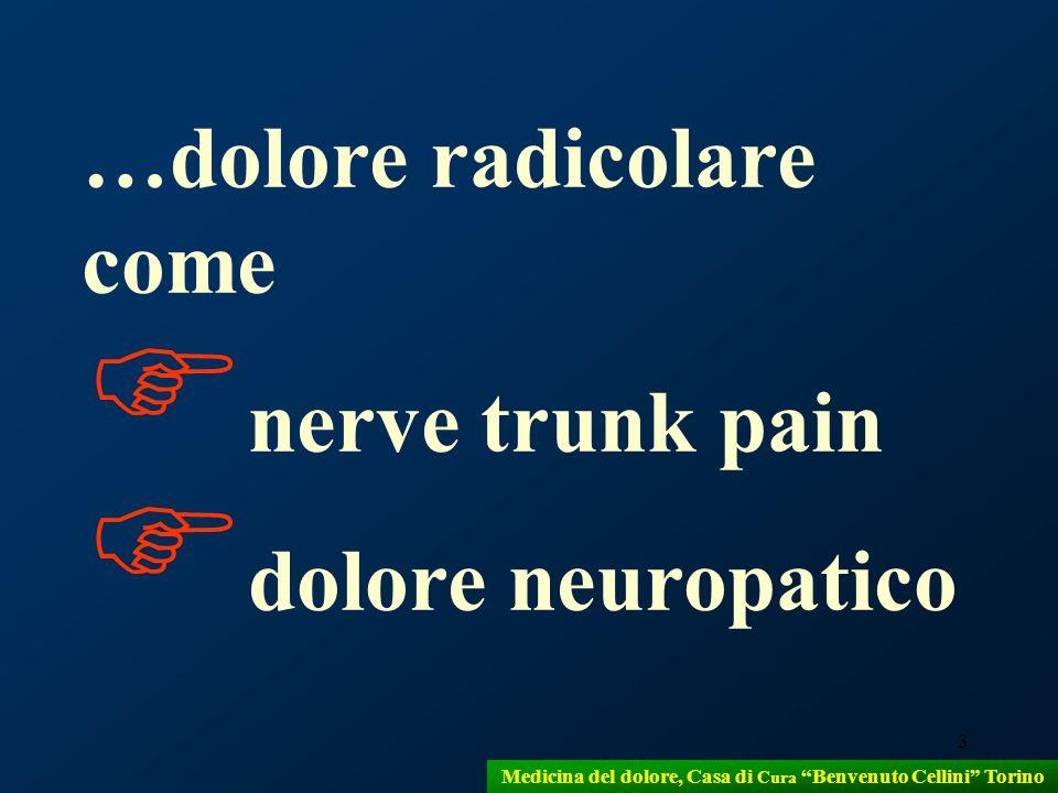 3 …dolore radicolare come nerve trunk pain dolore neuropatico Medicina del dolore, Casa di Cura Benvenuto Cellini Torino