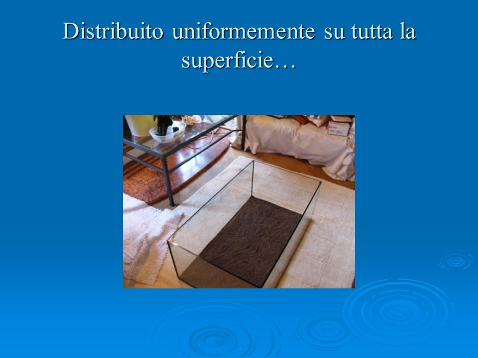 Distribuito uniformemente su tutta la superficie…