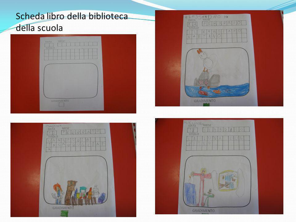 Scheda libro della biblioteca della scuola