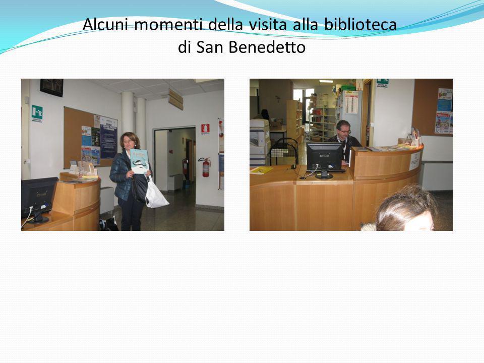 Alcuni momenti della visita alla biblioteca di San Benedetto