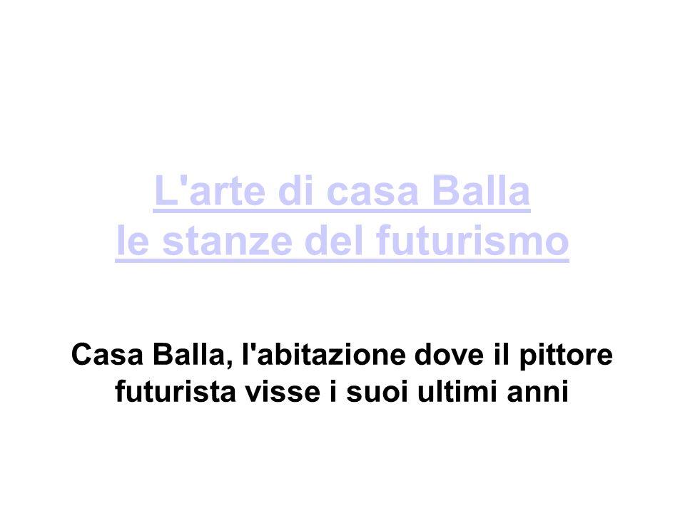 Casa Balla, dove il pittore futurista trascorse gli ultimi 30 di vita a Roma, diventerà fruibile almeno per gli studiosi .