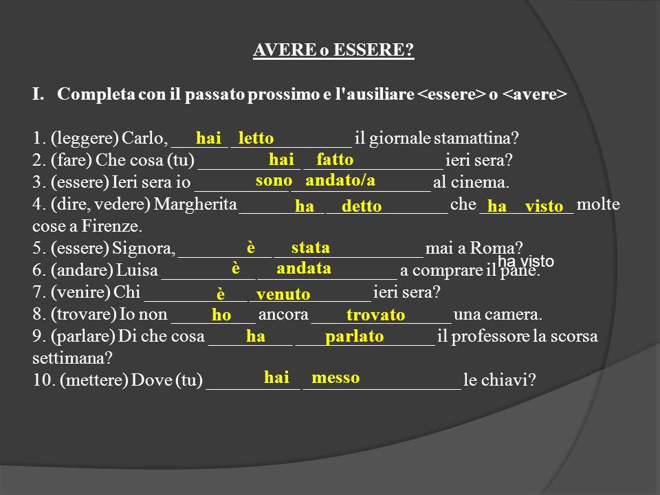 11.(conoscere) Dove (voi) _____________ __________________ Paolo.