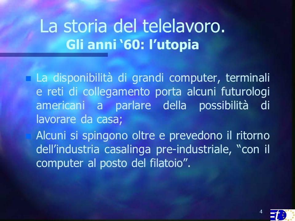 4 La storia del telelavoro.