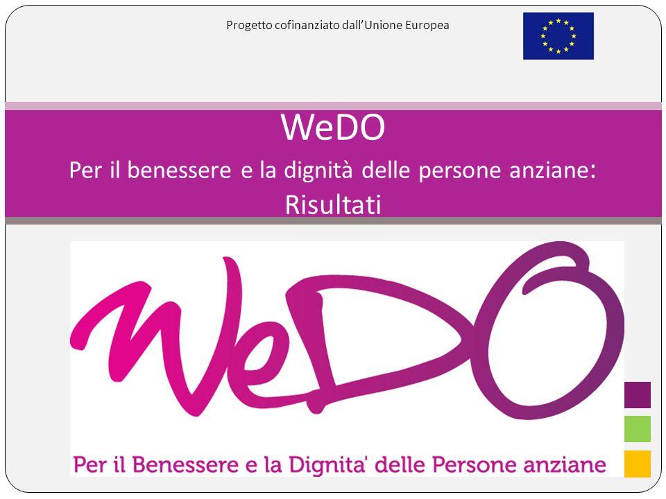 WeDO Per il benessere e la dignità delle persone anziane : Risultati Progetto cofinanziato dallUnione Europea