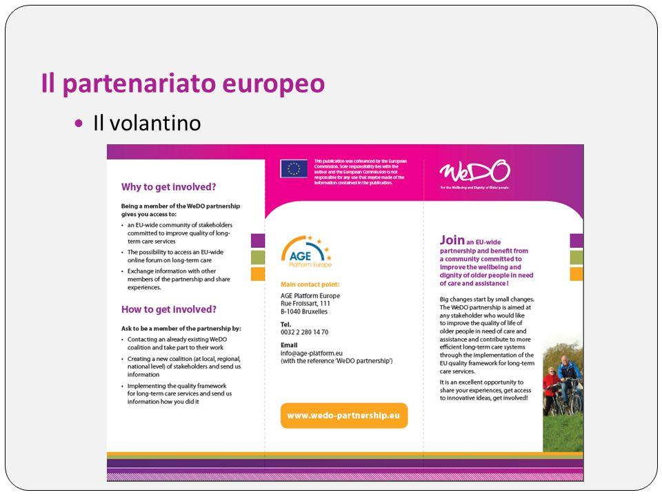 Il partenariato europeo Il volantino