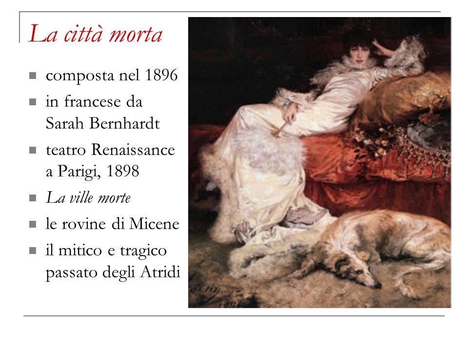 La città morta un poeta, Alessandro la moglie cieca, Anna la giovane Bianca Maria Quanti capelli.