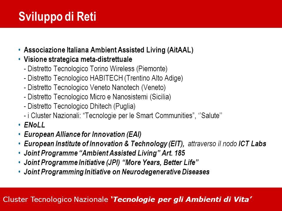Cluster Tecnologico Nazionale Tecnologie per gli Ambienti di Vita Sviluppo di Reti Associazione Italiana Ambient Assisted Living (AitAAL) Visione stra