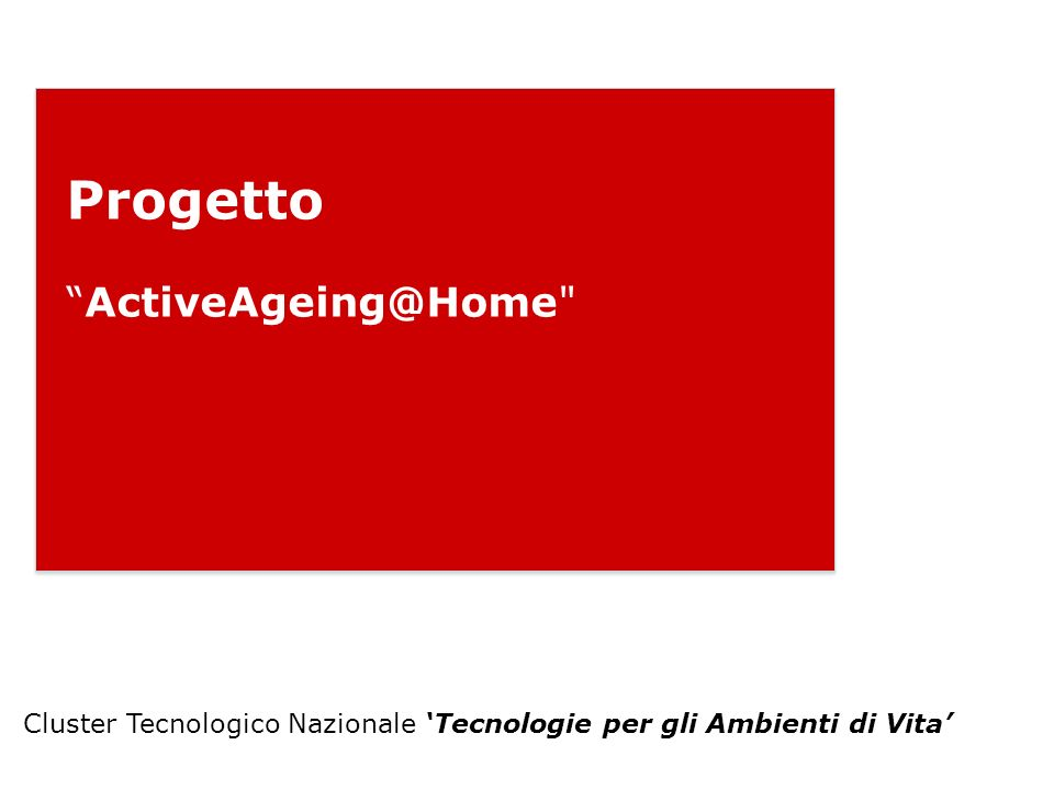 Progetto ActiveAgeing@Home