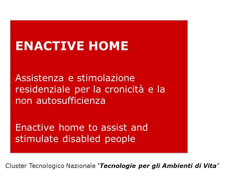ENACTIVE HOME Assistenza e stimolazione residenziale per la cronicità e la non autosufficienza Enactive home to assist and stimulate disabled people C