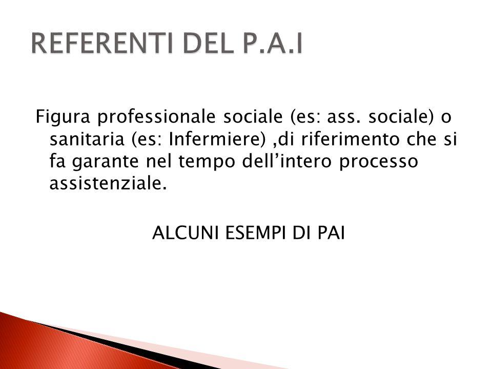 Figura professionale sociale (es: ass. sociale) o sanitaria (es: Infermiere),di riferimento che si fa garante nel tempo dellintero processo assistenzi