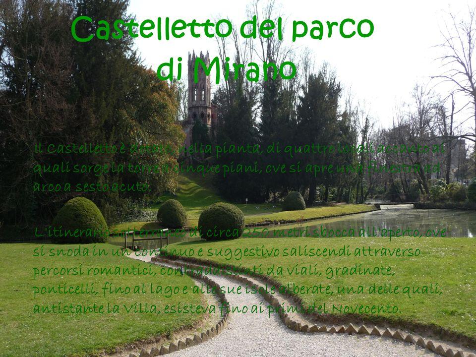Il Castelletto è dotato, nella pianta, di quattro locali accanto ai quali sorge la torre a cinque piani, ove si apre una finestra ad arco a sesto acut