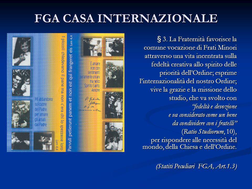FGA CASA INTERNAZIONALE § 3.