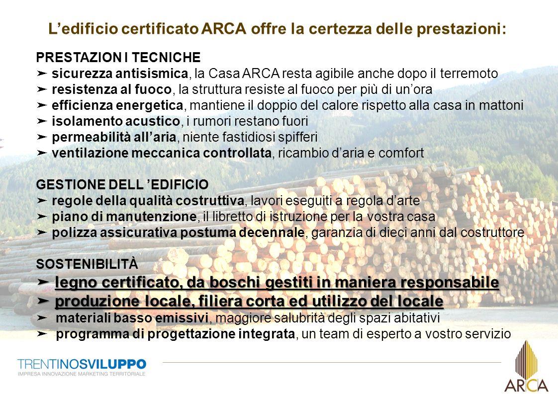 4 Ledificio certificato ARCA offre la certezza delle prestazioni: legno certificato, da boschi gestiti in maniera responsabile produzione locale, fili