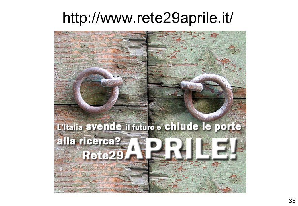 http://www.rete29aprile.it/ 35