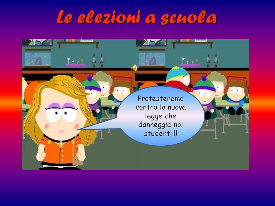 Le elezioni a scuola Se votate per me vi assicuro che faremo gite, tornei sportivi e assemblee!!!