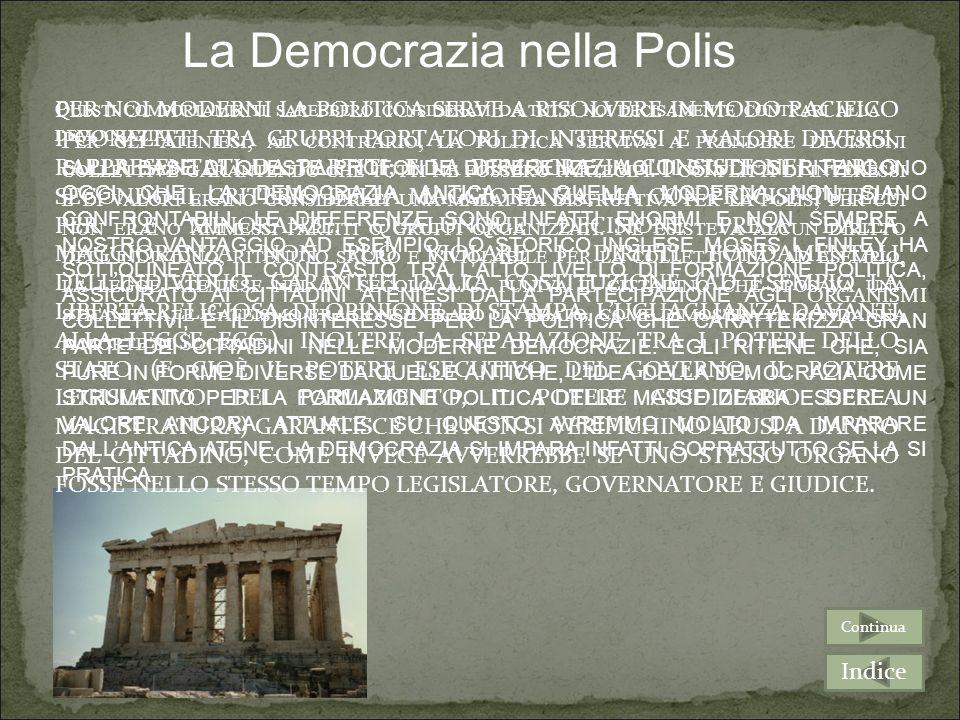 A CLISTENE O A PERICLE, PROBABILMENTE NON SAREBBERO PIACIUTI MOLTO LA COSTITUZIONE E IL SISTEMA POLITICO ITALIANO, PERCHÉ NEL NOSTRO PAESE ALLASSEMBLE