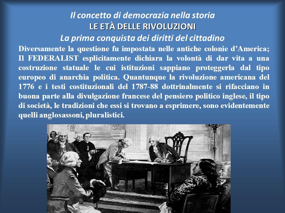 Nella Rivoluzione Francese, come gi à nell'assolutismo, non fu riconosciuta effettiva cittadinanza al dinamico evolversi di gruppi e istituzioni inter