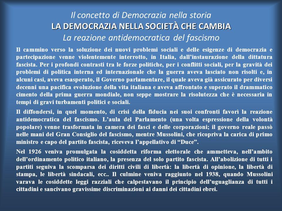Restava tra l'altro insoluto il problema della democrazia internazionale, come chiaramente mostrò il protezionismo ripreso dopo il 1870 in tutta l' Eu