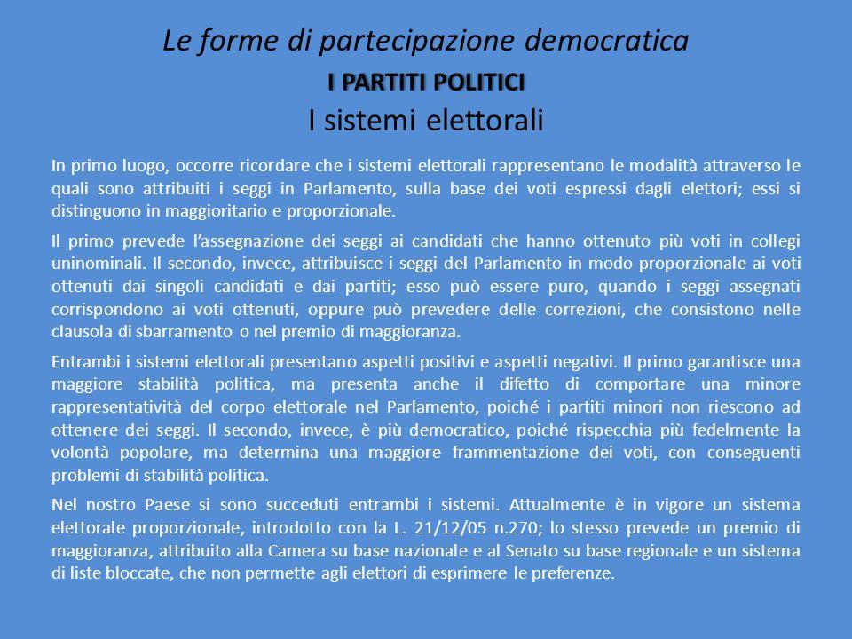 Io penso che anche tutte queste discussioni sulle leggi elettorali, finiscano per aggravare la disaffezione politica, poiché portano a dibattiti compl