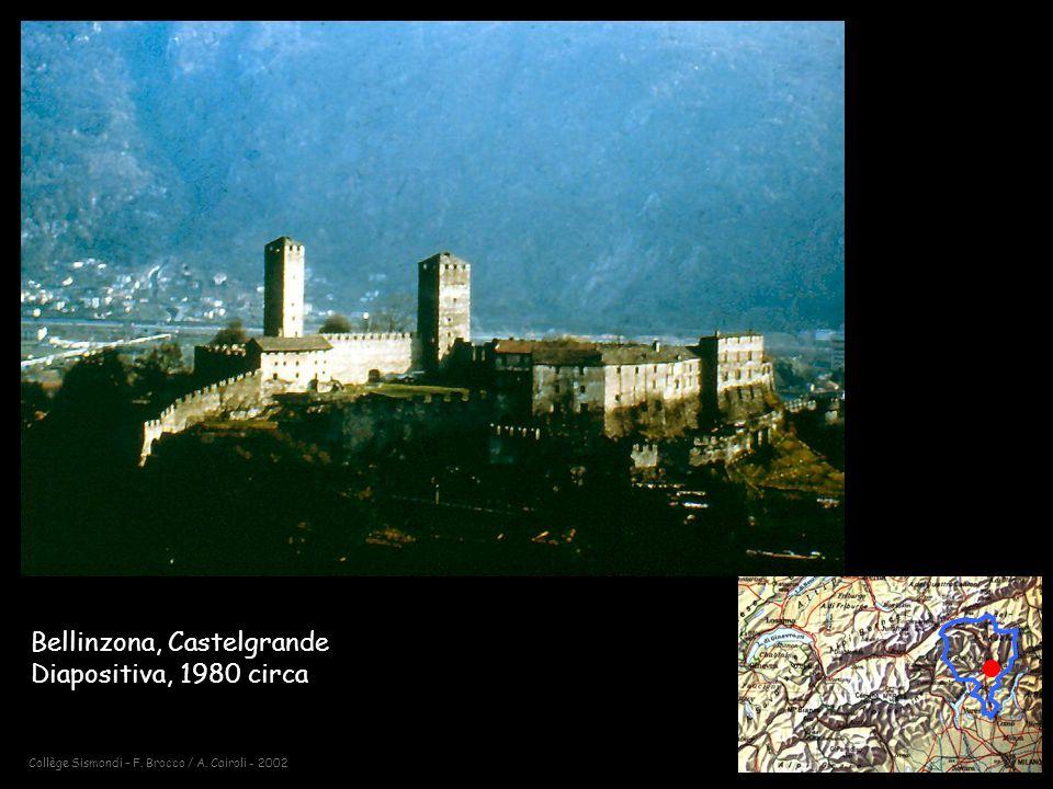 Collège Sismondi – F. Brocco / A. Cairoli - 2002 Bellinzona, Castelgrande Diapositiva, 1980 circa