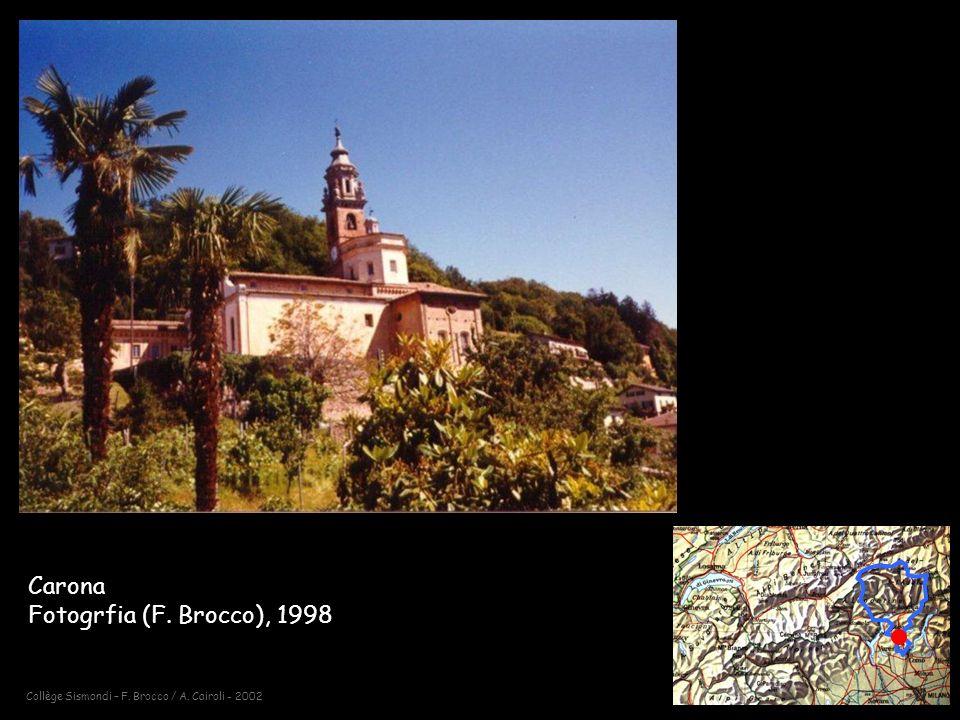 Collège Sismondi – F. Brocco / A. Cairoli - 2002 Carona Fotogrfia (F. Brocco), 1998