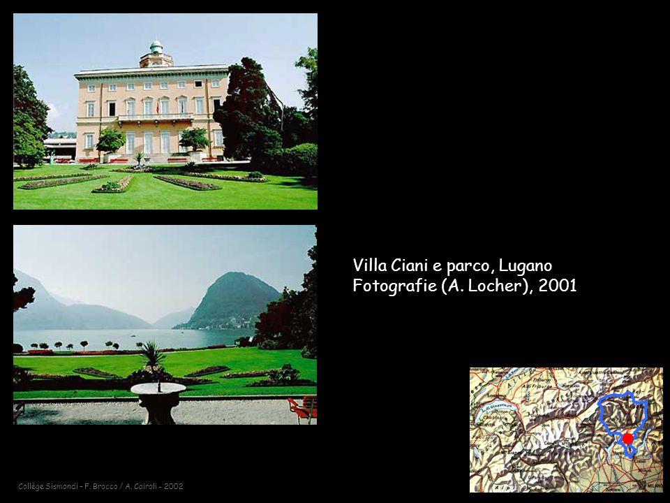 Collège Sismondi – F.Brocco / A. Cairoli - 2002 Villa Ciani e parco, Lugano Fotografie (A.