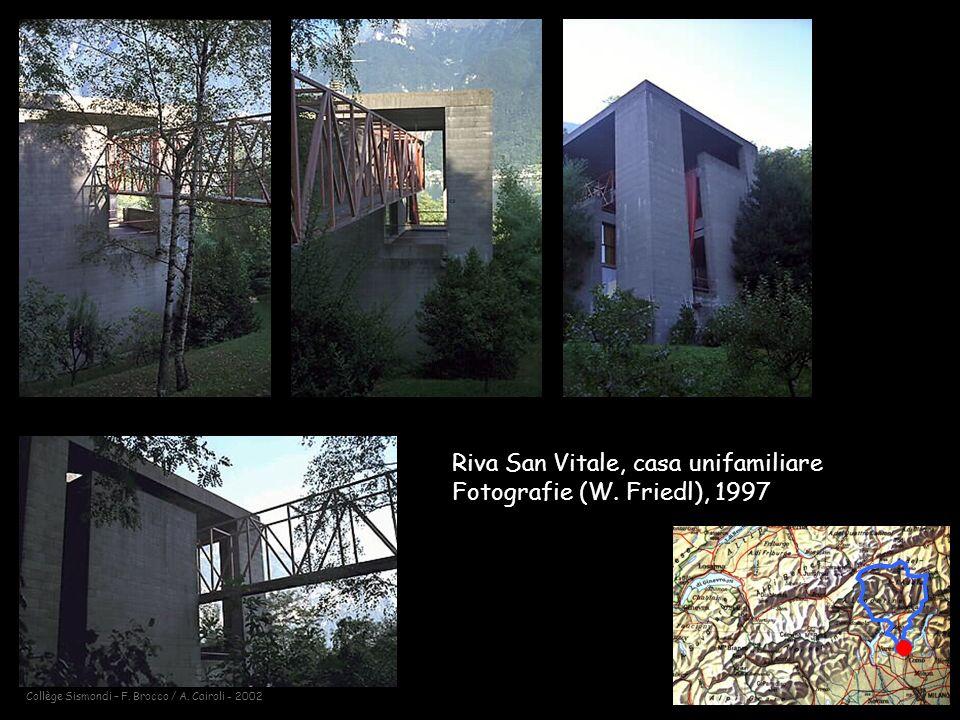 Collège Sismondi – F.Brocco / A. Cairoli - 2002 Riva San Vitale, casa unifamiliare Fotografie (W.