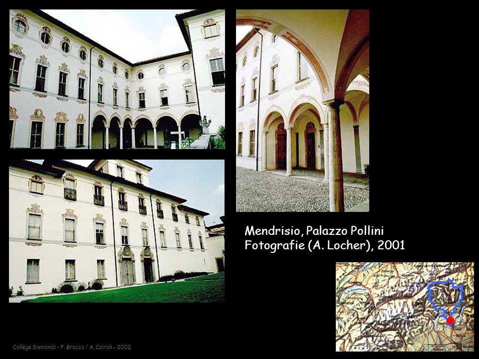 Collège Sismondi – F.Brocco / A. Cairoli - 2002 Mendrisio, Palazzo Pollini Fotografie (A.