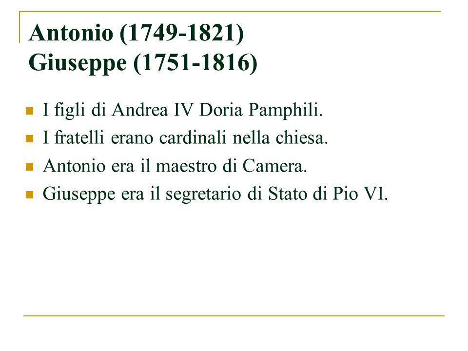 Luigi Giovanni Andrea V (1779-1829) Nel 1808, sposò Teresa Orsini di Gravina.