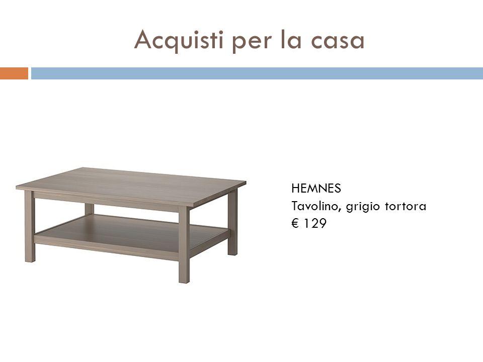 Acquisti per la casa HEMNES Tavolino, grigio tortora 129