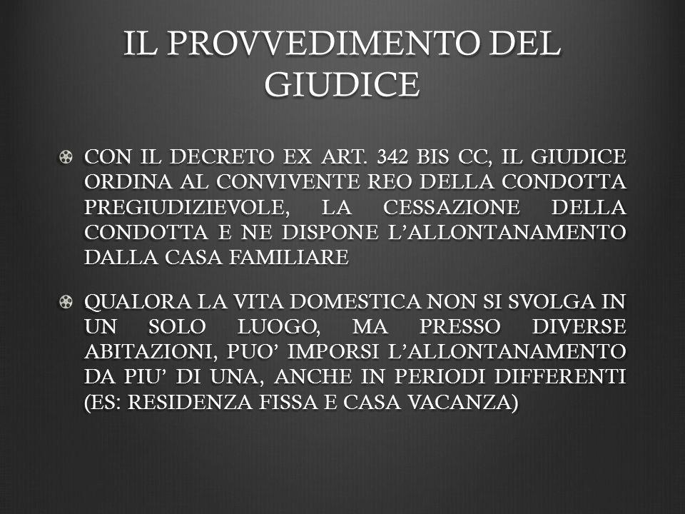 IL PROVVEDIMENTO DEL GIUDICE CON IL DECRETO EX ART.