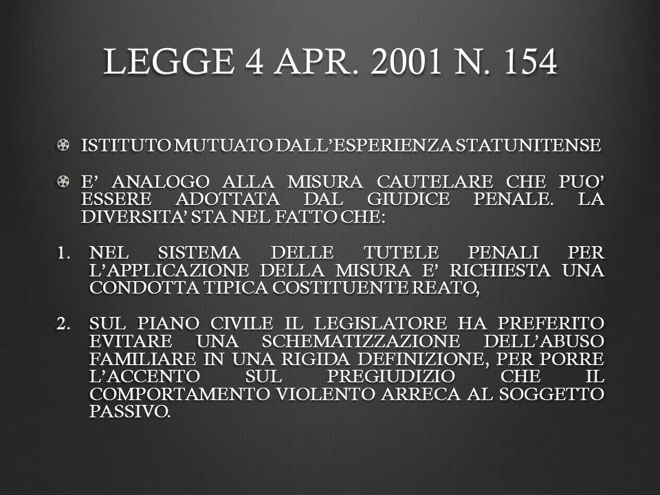 LEGGE 4 APR.2001 N.