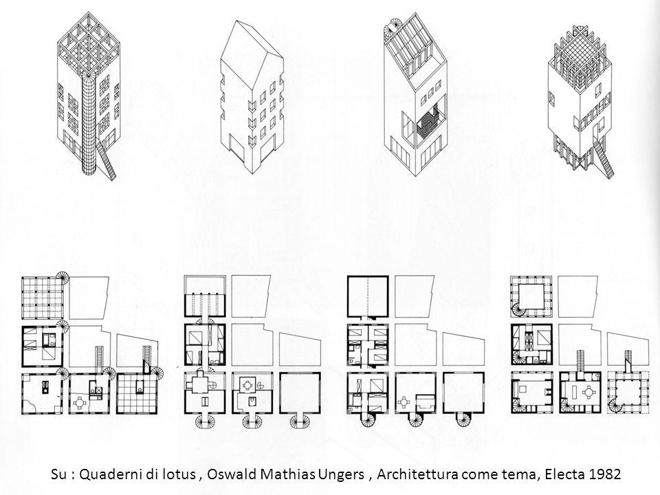 Su : Quaderni di lotus, Oswald Mathias Ungers, Architettura come tema, Electa 1982