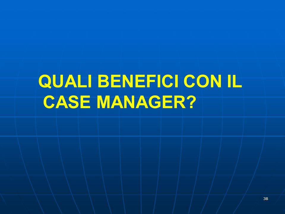 38 QUALI BENEFICI CON IL CASE MANAGER?