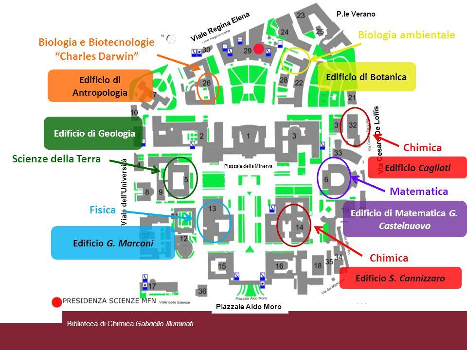 Viale dellUniversità Via Cesare De Lollis Piazzale Aldo Moro Viale Regina Elena P.le Verano Piazzale della Minerva Biologia e Biotecnologie Charles Da