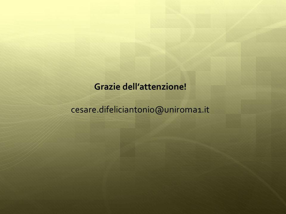 Grazie dellattenzione! cesare.difeliciantonio@uniroma1.it