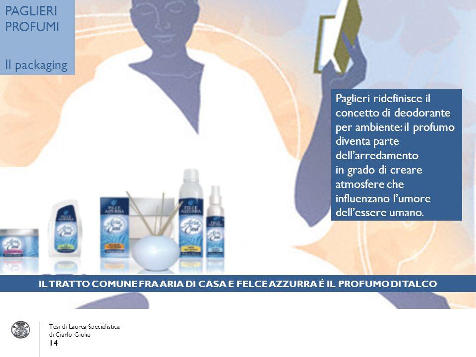 Paglieri ridefinisce il concetto di deodorante per ambiente: il profumo diventa parte dellarredamento in grado di creare atmosfere che influenzano lumore dellessere umano.