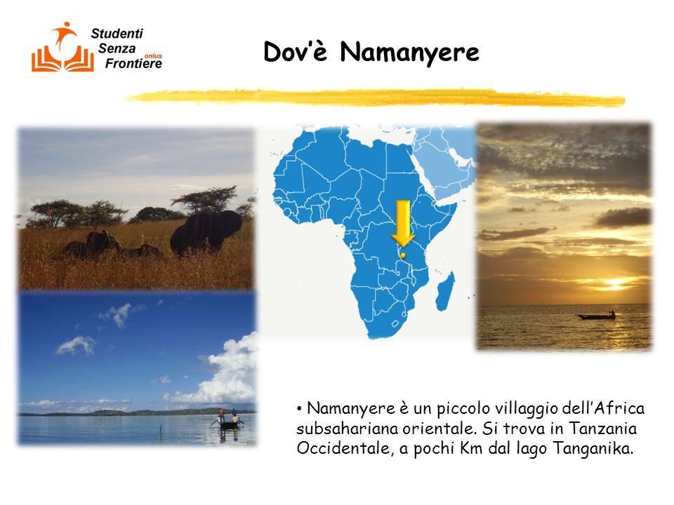 Dovè Namanyere Namanyere è un piccolo villaggio dellAfrica subsahariana orientale. Si trova in Tanzania Occidentale, a pochi Km dal lago Tanganika.