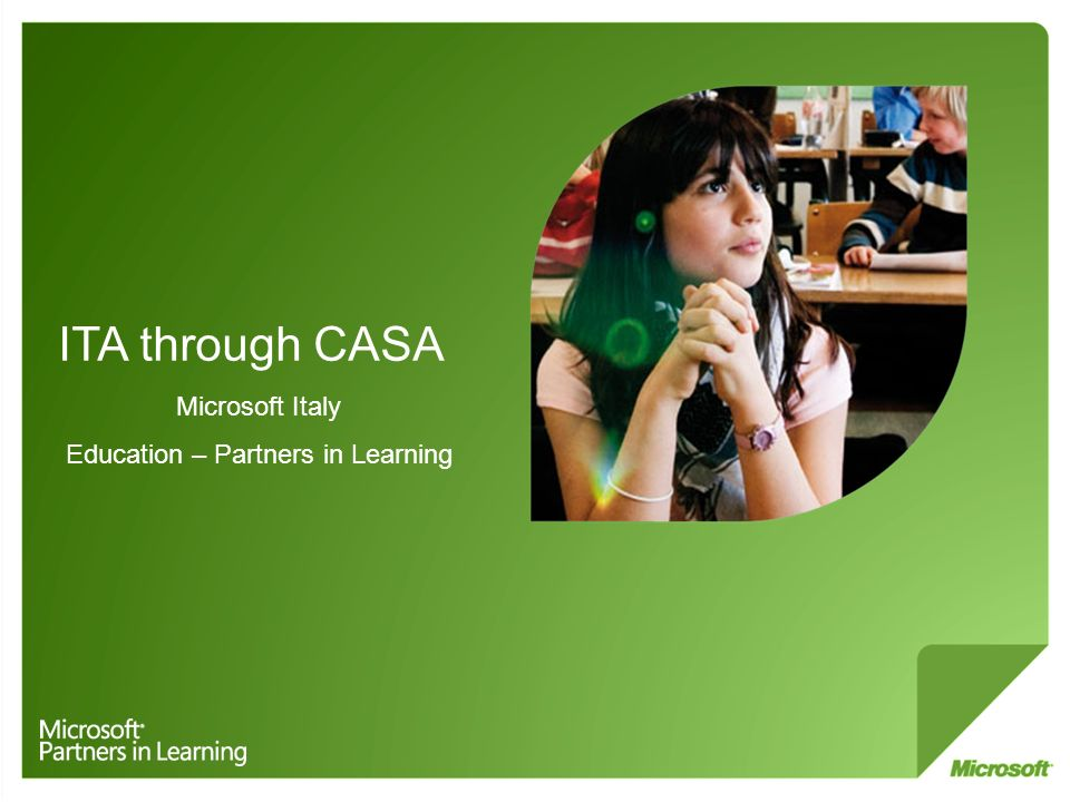 ITA through CASA Microsoft Italy Education – Partners in Learning
