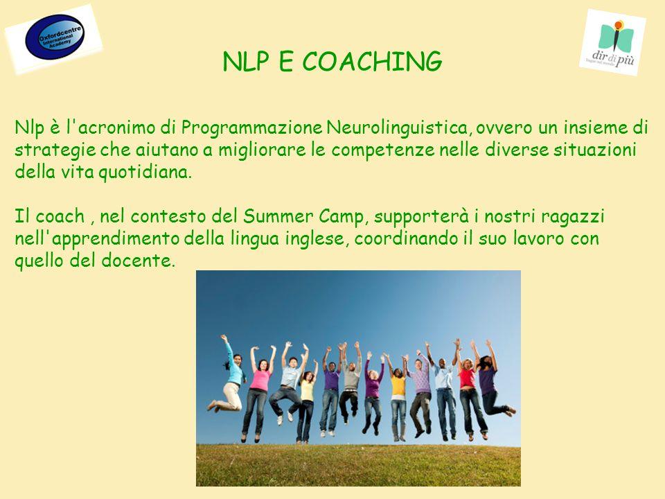 Nlp è l acronimo di Programmazione Neurolinguistica, ovvero un insieme di strategie che aiutano a migliorare le competenze nelle diverse situazioni della vita quotidiana.