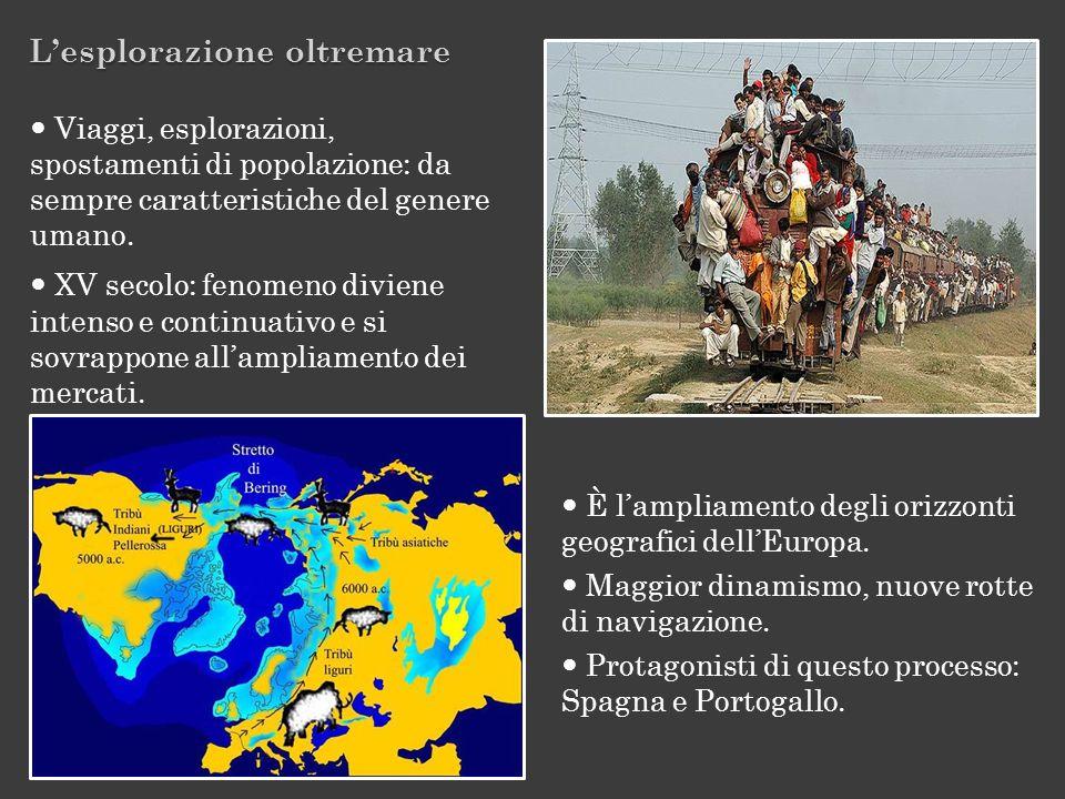 Lesplorazione oltremare È lampliamento degli orizzonti geografici dellEuropa. Maggior dinamismo, nuove rotte di navigazione. Protagonisti di questo pr
