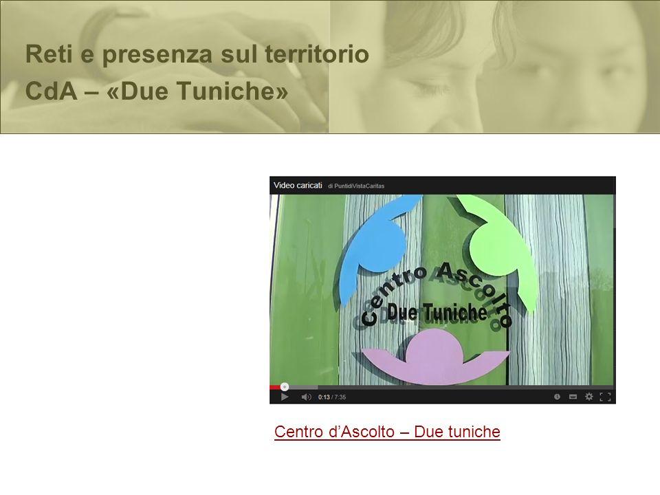 Centro dAscolto – Due tuniche Reti e presenza sul territorio CdA – «Due Tuniche»