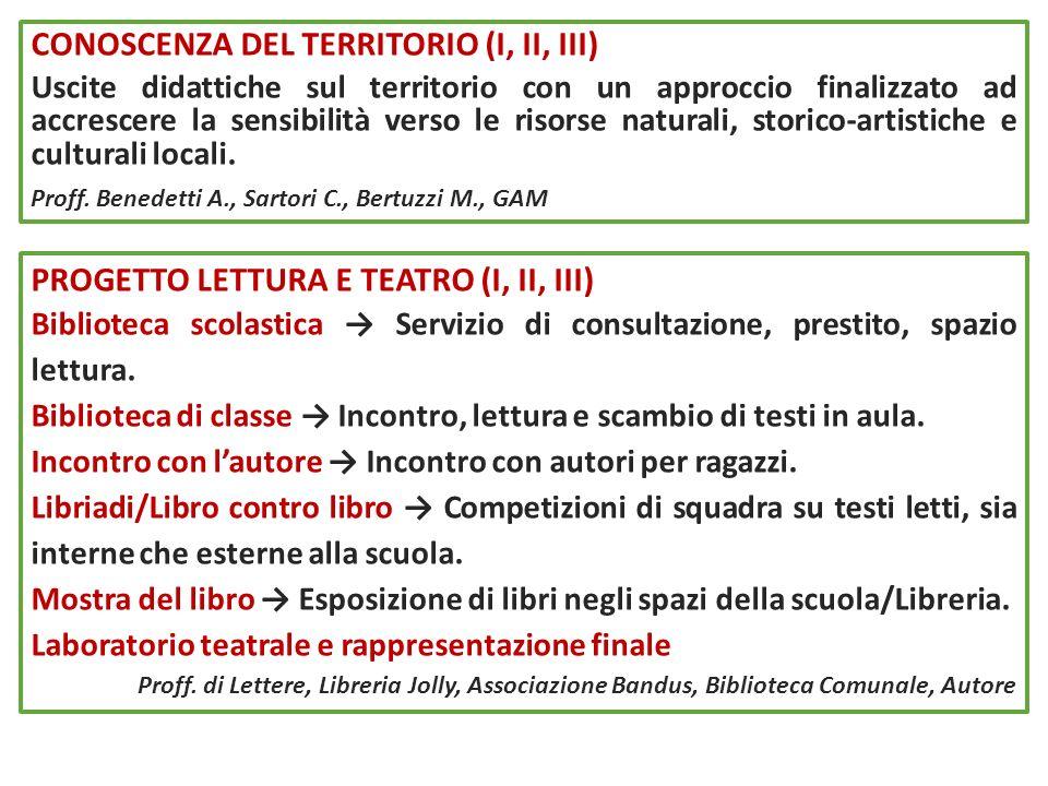 PROGETTO LETTURA E TEATRO (I, II, III) Biblioteca scolastica Servizio di consultazione, prestito, spazio lettura. Biblioteca di classe Incontro, lettu