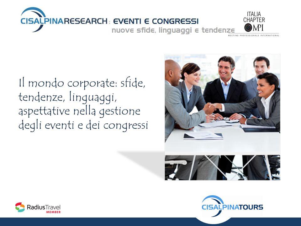 Il mondo corporate: sfide, tendenze, linguaggi, aspettative nella gestione degli eventi e dei congressi