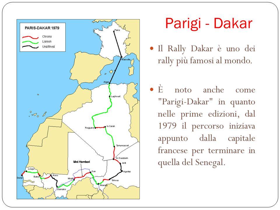 Parigi - Dakar Il Rally Dakar è uno dei rally più famosi al mondo. È noto anche come