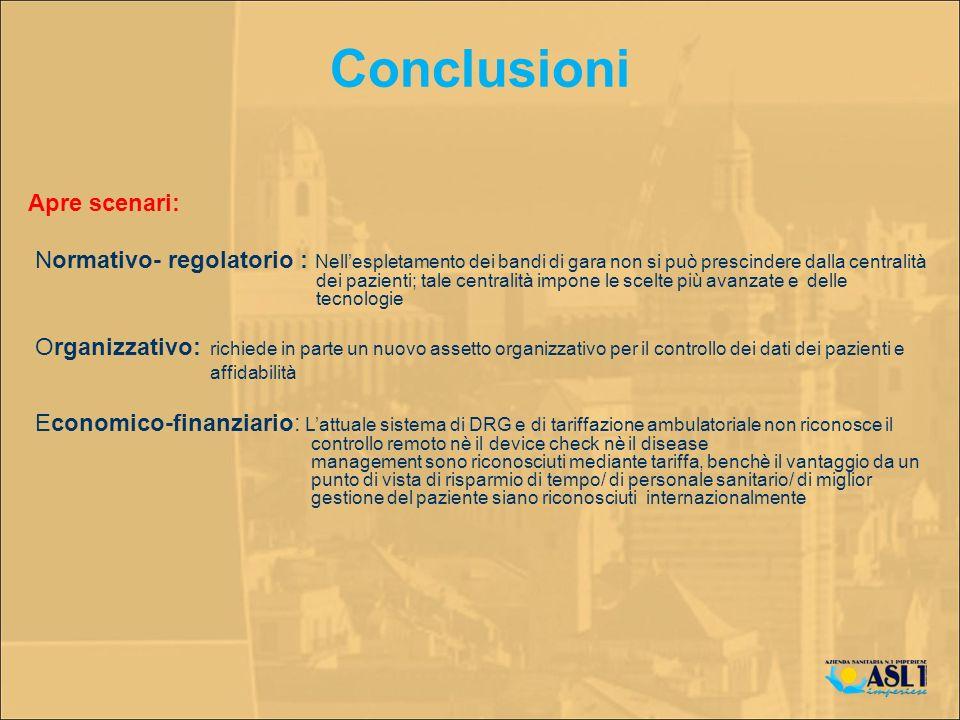 Apre scenari: Normativo- regolatorio : Nellespletamento dei bandi di gara non si può prescindere dalla centralità dei pazienti; tale centralità impone