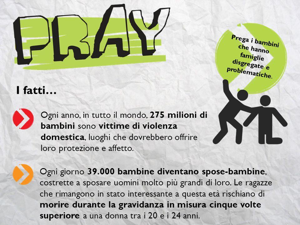 I fatti… 32 milioni di bambini in tutto il mondo sono registrati allanagrafe come orfani.
