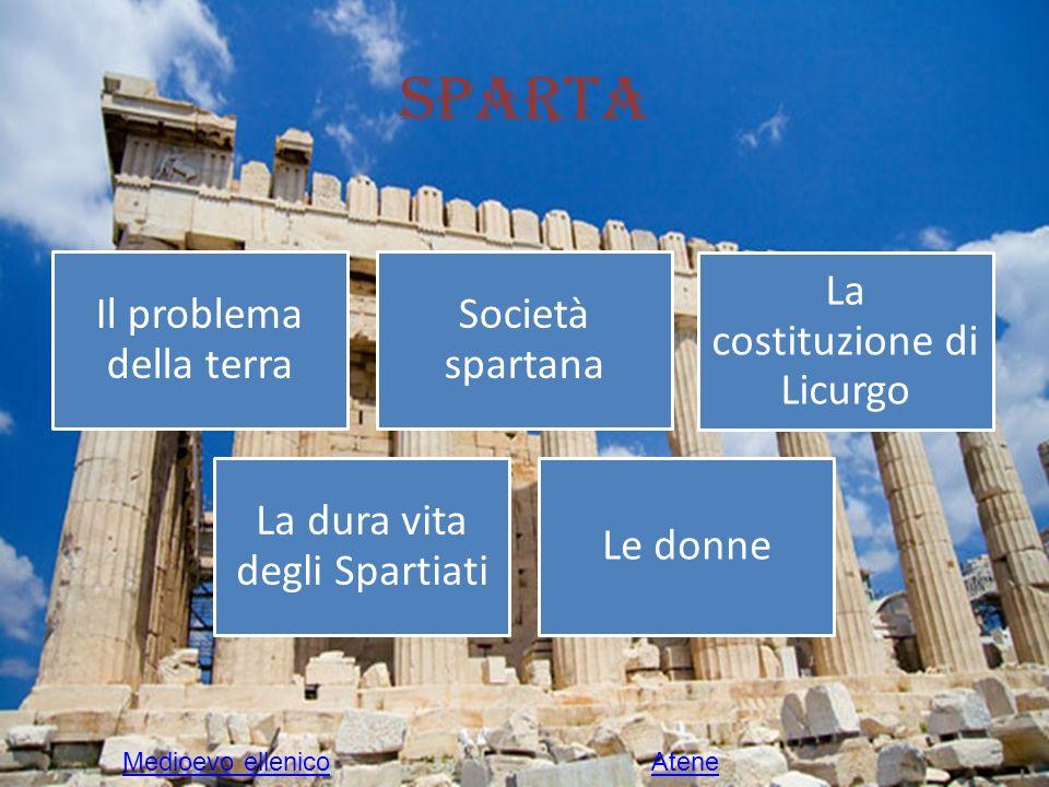 Il problema della terra Sparta fu ben presto afflitta dalla mancanza di terre coltivabili.